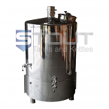 7 BBL Brew Kettle - with Heat Shields, Sloped Bottom (Direct Fire)