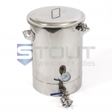 9 Gallon Mash Tun (with Recirculation Fitting and Bottom Outlet)