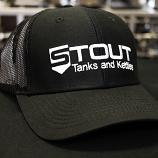 Stout Tanks Trucker Hat - Black with Nylon Black Mesh