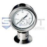 "1.5"" TC Pressure Gauge | Bottom Mount, 30 PSI"