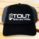 Stout Tanks Quick Dry Hat - Black with Charcoal Cotton Mesh
