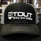 Stout Tanks Trucker Hat - Black with Light Grey Nylon Mesh