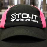 Stout Tanks Quick Dry Hat - Black with Pink Cotton Mesh