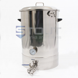 20 Gallon Mash Tun (with Recirculating Fitting, Bottom Outlet)