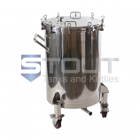 HB75PL-WH (2320) 75 Gallon Hop Back with Pressure Lid and Wheels