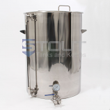 HL75TW-TI-SG-EL2-LS1 (396) 75 Gallon Hot Liquor Tank with Tangential Inlet and 2 Element Ports