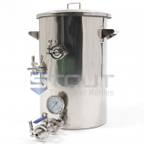 9 Gallon Hot Liquor Tank - with HERMS Coil (Direct Fire)