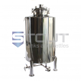 5 BBL Brite Tank with Butterfly Valves (Non-Jacketed)