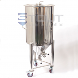 CF55TW-WH-FV (282) 55 gallon Conical Fermenter with Thermowell, Wheels and Butterfly Valves