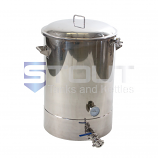 MT30TW-RF-BO (476) 30 Gallon Mash Tun with Recirculating Fitting and Bottom Outlet