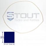 SP600LG (800) Lid Gasket for 68 Gallon Barrel Brite Tanks