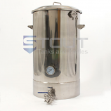 40 Gallon Mash Tun (with Recirculating Fitting and Bottom Outlet)