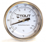 "Stem Thermometer | 3"" Face x 2.5"" Stem, 220 Degree"