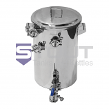 9.2 Gal. Hot Liquor Tank with Raised HERMS Coil, Upper Tangential Fitting and Electric Element Port (424)