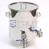 15 Gallon Brew Kettle - with Thermowell, Tangential Inlet, Trub Dam (Direct Fire) - ONLY 2 LEFT!!