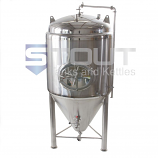 CF7BBL-JKT-SIDE (8640) 7 Barrel Glycol Jacketed Conical Fermenter with Side Manway