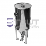 CF40TW-FRZ-FV (270) 40 Gallon Conical Fermenter with Butterfly Valves. Designed to Fit in a Freezer