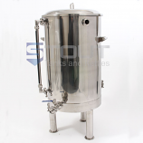 HL40TW-SG-EL2-LS1-XP-LEGS (386) 40 Gallon Hot Liquor Tank with Sight Glass, 2 Element Ports and Legs
