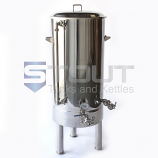 BK45TW-TI-SG-Legs (144) 45 Gallon Brew Kettle with Tangential Inlet, Sight Glass and Legs