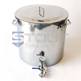 MT53TW-RF (487) 53 Gallon Mash Tun with Thermowell, Thermometer and Recirculating Fitting