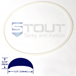 Fermenter Lid Gasket (7.3, 14.5, 80-WH, 125 gal. with ring clamp)
