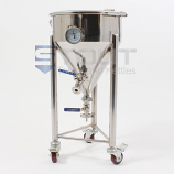 CF7TW-WH (315) 7.3 Gallon Short-Style Conical Fermenter with Wheels
