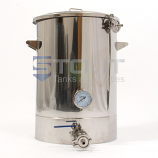 15 Gallon Mash Tun (with Recirculating Fitting and Bottom Outlet)