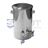 HL20TW-LL-EL1-TI.  20 Gal Electric Hot Liquor Tank w/ Tangential, Laser Marks, Thermowell (2624)