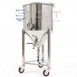 CF27TW-WH (245) 27 Gallon Conical Fermenter with Thermowell and Wheels